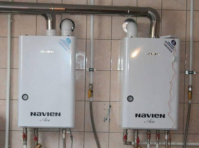 Характеристики и принцип работы газового котла навьен
