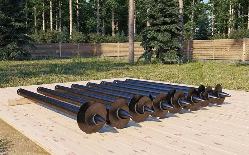 Размеры винтовых свай: диаметр, длина, вес.