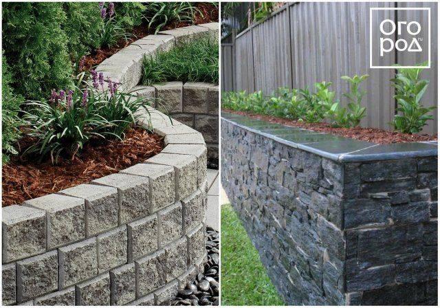 Подпорные стенки в ландшафтном дизайне на участке: фото и устройство конструкций из бетона, камня и габионов