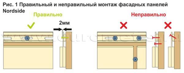 Сайдинг нордсайд адаптированный к русскому морозу
